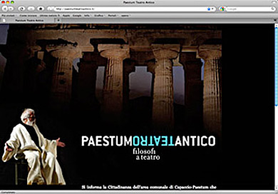 Web interactive video salerno paestum teatro antico